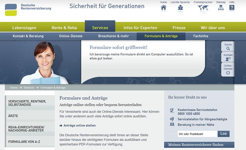 Der wichtigste Ansprechpartner zum Beantragen der Rente: Die Deutsche Rentenversicherung (#01)